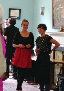 Poet Camilla Nelson with  symposium co-convenor Gill Partington.